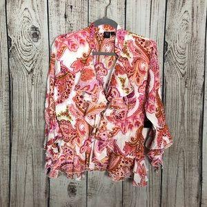 🌕4/$15🌕 NWT Milano Pink Paisley Print Blouse M
